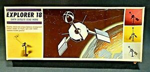 Vtg Hawk Explorer 18 Satellite Model Kit w/ Original Decals Space Astronaut RARE