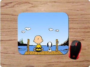 CHARLIE BROWN & SNOOPY DOCK CUSTOM PC DESK MAT MOUSE PAD HOME SCHOOL OFFICE GIFT