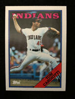 TOM CANDIOTTI 1988 TOPPS AUTOGRAPHED SIGNED AUTO BASEBALL CARD 123 INDIANS