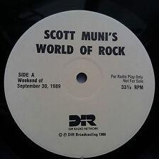 Scott Muni's World of Rock Rare US Radio Show Vinyl 2x LP + Cue Beatles Hendrix