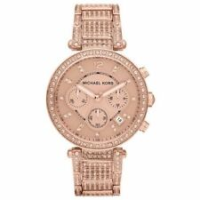 Michael Kors MK5663 Parker Crystal Glitz Rose Gold Tone Women's Watch