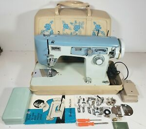 Vintage Brother Opus 141 Sewing Machine W/Feet+Manual+Case+Xtras ***Works Great!