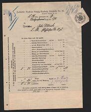LEIPZIG-REUDNITZ, Rechnung 1913, Steueramt Leipzig, Zahlstelle Rathaus Reudnitz