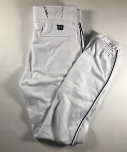 Wilson Men's Adult Pro Issue White Navy Blue Piping Baseball Pants 32x33 New