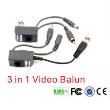 2pcs CCTV Coax BNC & Power Video Audio Balun Transceiver Over Cat5/5e/6 RJ45