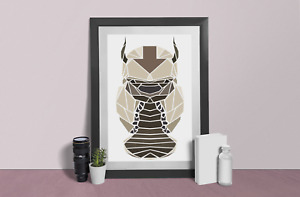 Avatar legend of Aang Poster Appa Wall abstract poster Art  print Size A4 A3 A2