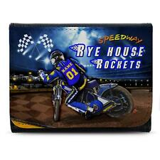 Rye House Rockets Speedway Wallet Leather Mens Dad Personalised Gift SW07