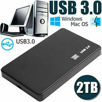 "2TB USB 3.0 External Hard Drive-Disks HDD 2.5"" for PC Laptop Desktop-Portable,,"