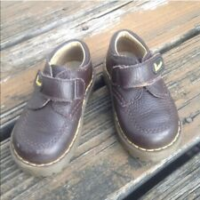Dr Martens Docs Brown Leather Oxford UK 6 Boys 7 Girls 8 EU23 Baby Toddler Shoes