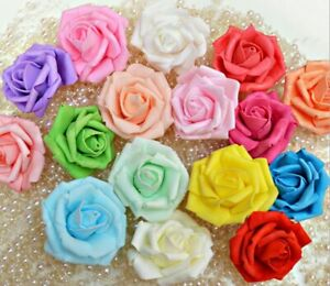 NEW 3CM FOAM ROSES-PACK OF 30/200 COLOURFUL ARTIFICIAL FLOWER WEDDING DECORATION