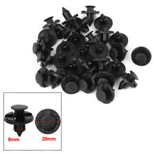 10pcs 8mm Hole Dia Plastic Car Auto Fender Rivets Fastener Push Clips For Nissan