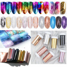 Nail Art Transfer Stickers Fantasty Holographicss Foils Gradient Decals Tips DIY