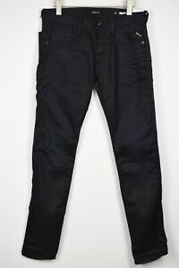 RRP$159 REPLAY ANBASS Men W31/L34 Resinplus Overdyed Stretch Denim Jeans 18594