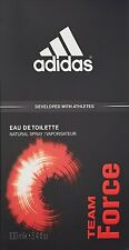 Adidas Team Force 3.4 oz EDT Cologne for Men New In Box.
