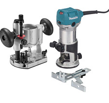 Makita Compact Router Kit Electric Wood Woodworking Precision Machine Power Tool