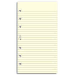 Filofax - Personal Cotton cream ruled notepaper 133053