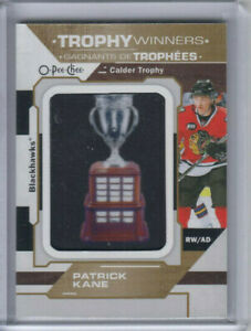19/20 OPC Chicago Blackhawks Patrick Kane Trophy Winners Patch card #P-57