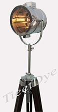 vintage Marine Floor Lamp, Nautical Spot Studio Tripod Floor Lamps Search light