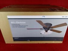 Hampton Bay Clarkston II 44 in. LED Indoor Oiled Rubbed Bronze Ceiling Fan