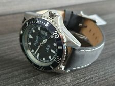 QUALITY DIVE WATCH SUBMARINER 42mm 200 METERS BY GERMAN BRAND Eichmuller Leather