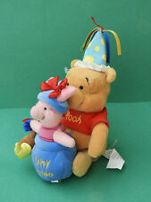 "Winnie & Porcinet / Piglet ""Happy Birthday"" peluche Plush 20cm Dinsey store"