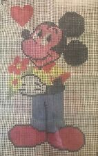 "Vintage Paragon latch hook rug canvas 26�x17"" Mickey Mouse Canvas Only"