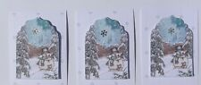PK 3 SNOWMAN HIDEOUT EMBELLISHMENT TOPPERS FOR CARDS