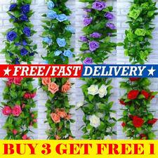 8ft Artificial Rose Garland Silk Flower String Vine Ivy Party Garden Decor Hot!
