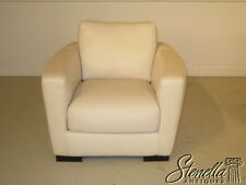 23205E: ITALSOFA Italian Made White Leather Modern Club Chair