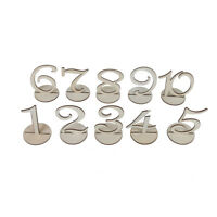 Wooden Table Number1-10 Set With Holder Base Wedding Birthday Party Place Mark