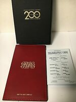Brown Brothers Harriman 200th Anniversary CarveOn Leather Wallet / Chequebook