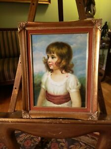 Fantastic Vintage Oil Painting-Portrait of a Girl-Nice Detail