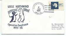 1971 USCGC Northwind WAGB-282 Deepfreeze New York Polar Antarctic Cover SIGNED