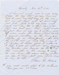 Massachusetts earthquake letter 1852 re lasting 90 seconds but no damage