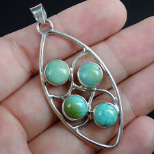 Multiple TURQUOISE & 925 Sterling silver Pendant Jewellery