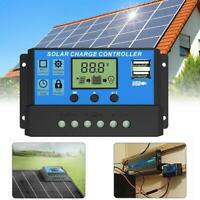 10-30A Solar Panel Battery Charge Controller 12V 24V Regulator LCD Auto N1N7