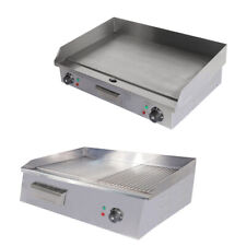 Commercial Griddle Stainless Steel Counter Top Hot Plate Meat Food Grill Plates