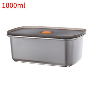 Lunch Box Stainless Steel-Leakproof Seal Bento Snack Box Food Container- 4 Sizes