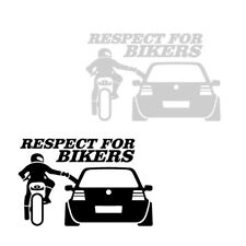 1 Piece RESPECT FOR BIKERS Car Sticker 20*13cm Funny Decals Window Waterproof
