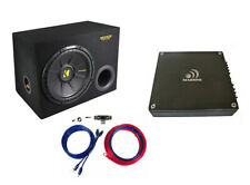 Kicker  Massive Audio 600 Watt Basspaket Endstufe Subwoofer Kabelset *UVP 363,-