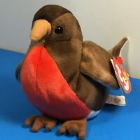 5a65e293f98 1998 VINTAGE BEANIE BABIES PLUSH STUFFED ANIMAL RETIRED TY TAG EARLY BIRD  BROWN
