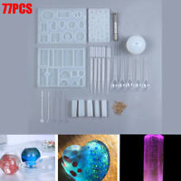 Resin Casting Mold Kit Silicone Mold Making Jewelry Pendant Mould Craft DIY Set