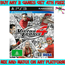 PS3 | VIRTUA TENNIS 4 | *Inc MANUAL* | PAL | ***FAST POST*** | WARRANTY