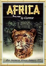 MAGNET Travel Poster Photo Magnet AFRICA by Clipper Pan American World Airways