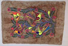 Vintage Bark Painting Mexican Folk Art