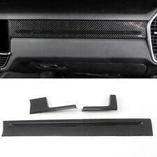 Carbon Fiber Black Middle Console Stripe Cover 3pcs For Porsche Cayenne 2019