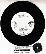 "BRYAN ADAMS  Cuts Like A Knife & Straight From The Heart 7"" 45 rpm record NEW"