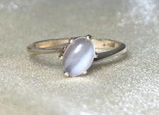 Vintage 10k Yellow Gold Moonstone Solitaire Ring