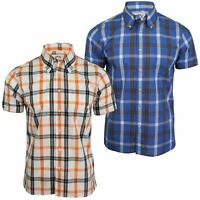 Mens Short Sleeved Window Pane Check Shirt by Brutus Trimfit