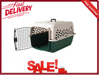 Ruff Maxx Kennel for Dogs Portable Plastic W/ Carrying Handle 28 Inch Tan Green